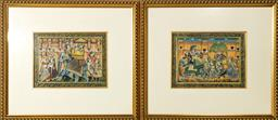 Sale 9093P - Lot 38 - Set of 5 Mugal Style Gouache Paintings of an Indian Wedding (Each 22 x 29 cm) (50x55cm)