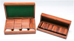 Sale 9164 - Lot 368 - Cased timber dominoes sets