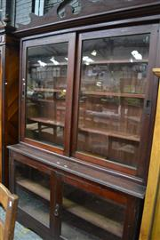 Sale 8050B - Lot 3 - A late Victorian Cedar Bookcase with two glass panel doors below