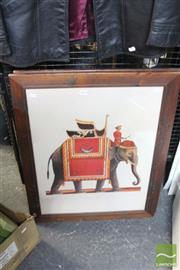 Sale 8468 - Lot 2092 - Group of (4) Assorted Decorative Prints after Various Artists Including Renoir, Anne Williams and Indian Mahout Scenes