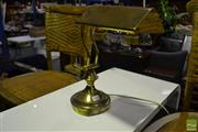 Sale 8472 - Lot 1068 - Brass Bankers Lamp