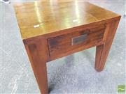 Sale 8489 - Lot 1077 - Single Drawer Stained Oak Lamp Table