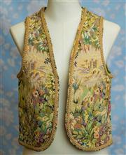 Sale 8577 - Lot 138 - A vintage tapestry vest with braided trim, size 8/ 10, Condition: Excellent