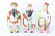 Sale 8778 - Lot 314 - Set of 3 Ceramic Immortal Figures ( H 24cm)