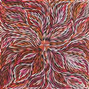Sale 8875A - Lot 5081 - Janet Golder Kngwarreye (1973 - ) - Yam Leaf 58 x 54 cm (stretched and ready to hang)