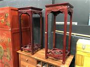 Sale 8854 - Lot 1014 - Pair of Chinese Rosewood Pedestals