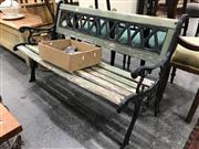 Sale 8889 - Lot 1393 - Timber and Metal garden Bench