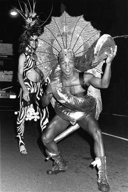 Sale 9082A - Lot 5034 - Sydney Gay and Lesbian Mardi Gras Parade (1985), 20 x 25 cm, silver gelatin, Photographer: unknown