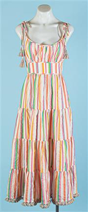 Sale 9090F - Lot 28 - A ZIMMERMAN CANDY STRIPED FLOATY SUMMER DRESS; in muticoloured cotton, size 3