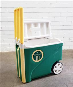 Sale 9102 - Lot 1303 - Australian Cricket Cooler with convertible handle/stumps -