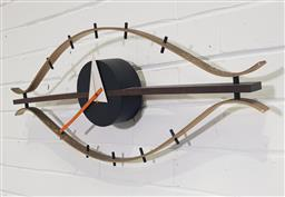 Sale 9171 - Lot 1013 - George Nelson Eye wall clock for Vitra (h:33 w:77cm)