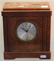 Sale 7950 - Lot 32 - Levans Verzewkering-Maatschapple Oak Moneybox Clock