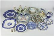 Sale 8396 - Lot 65 - Famille Rose Plate with Other Ceramics Incl. Blue & White
