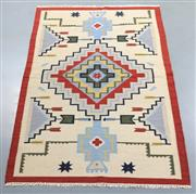 Sale 8438K - Lot 76 - Jaipur Veggie Dye Kilim Rug | 240x160cm, Pure Wool, Handwoven in Rajasthan, India with a pure NZ wool composition. Fully reversible ...