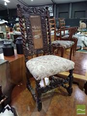 Sale 8532 - Lot 1097 - Charles II Style Carved Walnut & Barley Twist Chair
