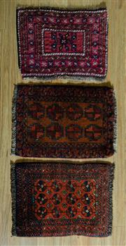 Sale 8700C - Lot 49 - 3 x Persian Door Mats 90cm x 60cm