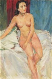 Sale 8799 - Lot 518 - William Frater (1890 - 1974) - Seated Nude 75.5 x 50.5cm