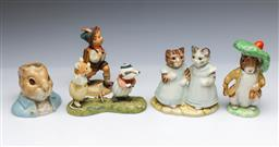 Sale 9098 - Lot 27 - A Beswick Peter rabbit jug together with other figures inc Royal Albert, Goebel and Villeroy & Boch