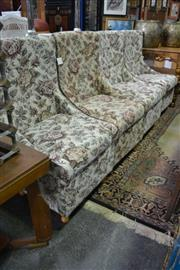 Sale 8099 - Lot 891 - 4 Raised Upholstered Chairs w Storage Below & Another