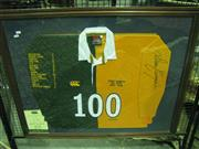 Sale 8200A - Lot 3019A - Signed & Framed David Campese Jersey commemorating 100 Tests 1982-96 incl. Certificate of Authenticity