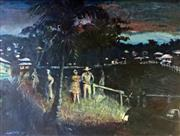 Sale 8442A - Lot 3 - Laurence Hope (1928 - ) - Evening, Townsville 1951 57.5 x 76.5cm
