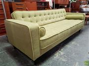 Sale 8566 - Lot 1026 - Green Upholstered Vintage Style Lounge (77 x 84 x 206)