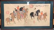 Sale 8729 - Lot 76 - Large Framed Print of Chinese Horses