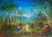 Sale 8838 - Lot 546 - David Boyd (1924 - 2011) - Children and the Cockatoos 39 x 49.5cm
