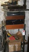 Sale 7670A - Lot 1130 - Stainless steel mobile together with type writer, record players, toys and collectables plus a record player