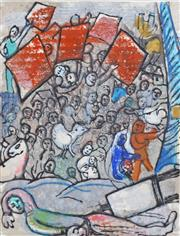 Sale 8270 - Lot 44 - Marc Chagall (1887-1985) - The Revolution 32.39 x 24.77cm