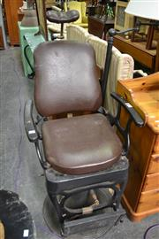 Sale 8115 - Lot 1449 - Barbers Chair. Circa 1950s