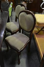 Sale 8124 - Lot 1066 - Set of 6 Balloon Back Dining Chairs