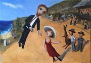 Sale 8298 - Lot 14 - Garry Shead - Meeting the locals From the D.H. Lawrence series 91 x 122cm