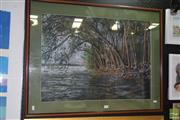Sale 8509 - Lot 2009 - M Edminston (XX) - Tall Mangrove Temple 52.5 x 72.5cm