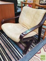 Sale 8435 - Lot 1071 - Pair of Danish Leather Upholstered Armchairs