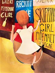 Sale 8527A - Lot 24 - Charles Blackman (1928 - ) - Skipping Girl 89 x 67cm