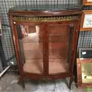 Sale 8649R - Lot 141 - Antique French Marble Top Vitrine with Glass Shelves and Gilt Bronze Mounts (H: 157 W: 108 D: 47cm)
