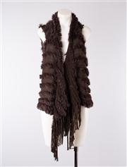 Sale 8740F - Lot 231 - A Sage, Sydney fur and knit sleeveless vest, approx size small