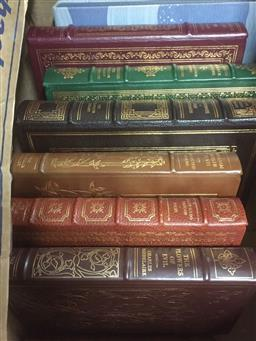 Sale 9152 - Lot 2405 - 7 Volumes The Franklin Library Books incl. Wallace Stevens Collected Poems; Milton, J. Paradise Lost; Plus Lindbergh, A.M. List...
