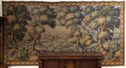 Sale 8435A - Lot 22 - Les Tapestries dHalluin, a hand finished large antique style tapestry of a park scene, H 190 x 400cm