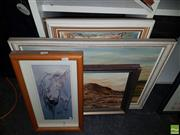 Sale 8563T - Lot 2123 - Two 3D Pictures with Three Artworks incl. Asian Scenes and Australian Landscapes (5)