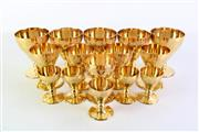Sale 8948 - Lot 4 - Group Of Gilded Glassware With Ivy Leaf Pattern