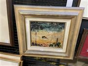 Sale 9045 - Lot 2024 - Dean Vella Homestead oil on canvas (AF - crazing) 44 x 49cm, signed -