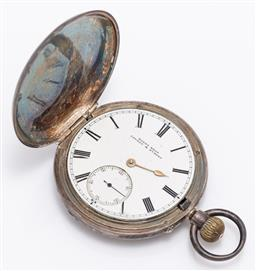 Sale 9180E - Lot 158 - A Hardy Brothers London & Sydney sterling silver cased pocket watch, Birmingham, c. 1889 by Rotherham & Sons (John Rotherham), total...
