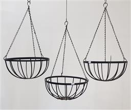 Sale 9215 - Lot 1520 - Collection of 3 hanging planters (d:36cm)