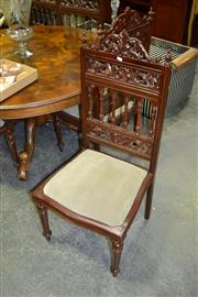 Sale 8124 - Lot 1075 - Set of 6 Heavily Carved Dining Chairs w Spindle Backs
