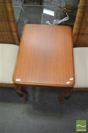 Sale 8257 - Lot 1095 - Set of Three Timber Side Tables