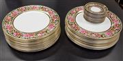 Sale 8310A - Lot 81 - A Wedgwood part dinner service in the Clio pattern comprising 24 dinner plates and 12 saucers.