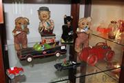 Sale 8330T - Lot 184 - Tri-Ang Wind Up Tractor with Other Vintage Toys incl Charlie Weaver Bartender