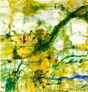 Sale 8527A - Lot 34 - John Olsen (1928 - ) - Frogs & Banana Leaf 85 x 80cm
